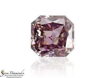 Diamond Natural Color Fancy Brownish Purplish Pink 0.13 ct Loose Radiant Cut GIA