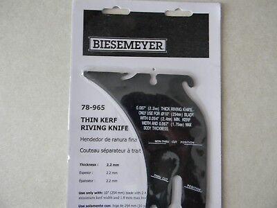 Delta 78-965 Biesemeyer Thin Kerf Riving Knife New Unisaw Only 2-28