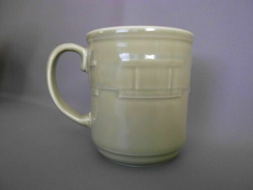 1 Longaberger Woven Traditions Pottery SAGE GREEN Coffee Mug/Cup~EUC