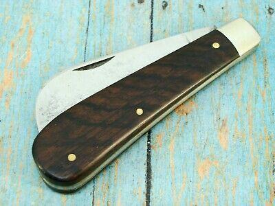 ANTIQUE SCHRADE WALDEN NY USA EBONY FOLDING PRUNER HAWKBILL POCKET KNIFE KNIVES