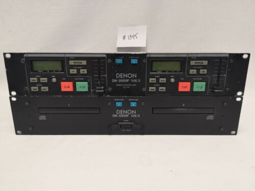 DENON DN-2000F MKII DUAL CD PLAYER WITH CONTROLLER #1345 GOOD USED CONDITION