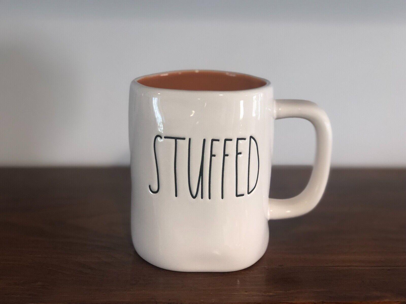 Rae Dunn Artisan Collection By Magenta Farmhouse LL Large Letter Coffee Tea Mug STUFFED (ORANGE)