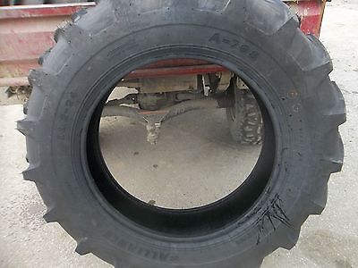 Two 11.2x24 Ice Storm Sale Today Only Deere Ford R1 Farm Tractor Tires