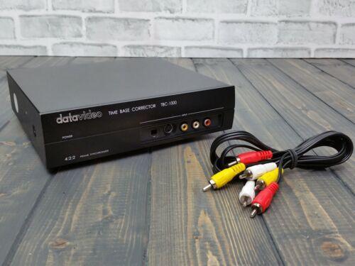 Datavideo TBC-1000 Time Base Corrector 4:2:2 Frame Synchronizer **NOT TESTED**
