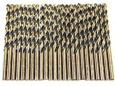 Jobber Length Wire Pack (Marxman No.8 Drill Bit Black & Gold Jobber Length Wire Gauge Drills HSS 20 Pack)
