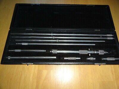Starrett Inside Micrometer Measuring Range 8 - 32 0.001 Threaded Collet Case