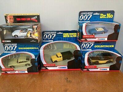 Job Lot / Collection Of 5 Corgi 'James Bond' Models. All VGC In Original Boxes.