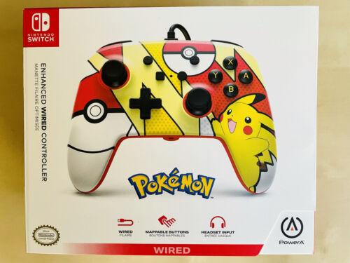 PowerA Enhanced Wired Controller For Nintendo Switch Pok mon Pikachu Pop Art - $23.99