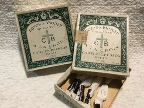 Antique 1800's COTON A BRODERICK CROCHET THREAD AND 2 original boxes