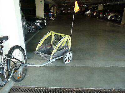 """Remorque 2 enfants pour vélo """"Instep Sierra Lime"""""""