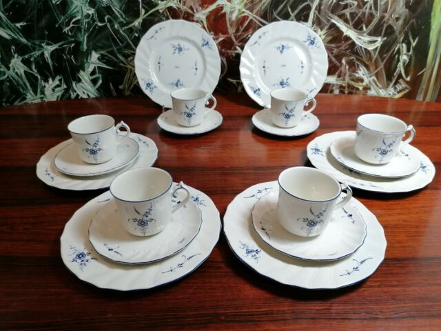 Villeroy & Boch Luxembourg Old - Pretty 18 Piece Coffee Service For 6 Pers