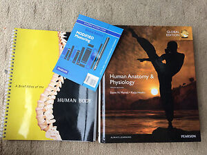 10th Ed. Human Anatomy and Physiology textbook, Atlas, Online Access Southport Gold Coast City Preview