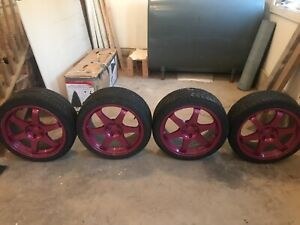 18x8 offset fast wheels + tires