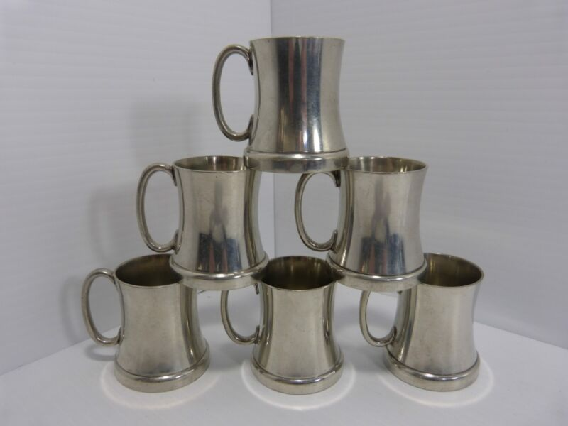 Vintage Abercrombie & Fitch Pewter Shot Glass Glass Bottom