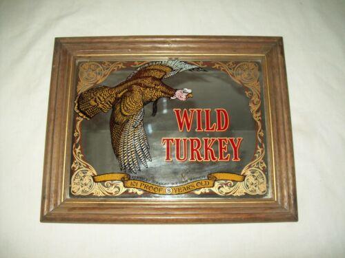 """vintage Wild turkey Whiskey  Mirror  sign 12"""" by 8"""""""