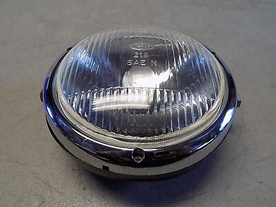 91 Tomos A3 Bullet Complete Headlight w/ Bucket Bulb & Trim Ring ~FastFreeShip~