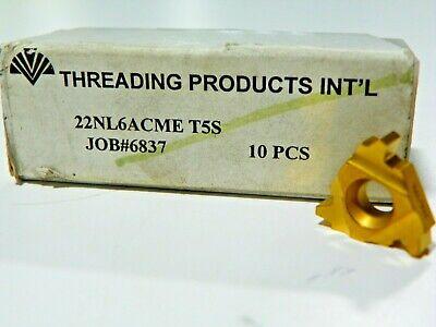 10 Pieces Tpi 22nl 6acme T5s Carbide Inserts  F419