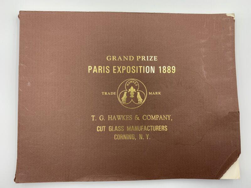 T. G. Hawkes Cut Glass Catalog Corning NY American Cut Glass Association
