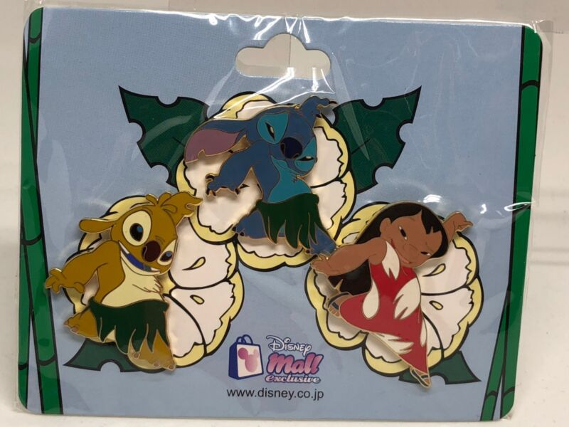 Japan Disney Mall Lilo And Stitch Reuben Experiment 625 Pin Set LE250