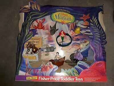 Vintage 1997 Disney's Little Mermaid McDonald's Happy Meal Toys Display Figures