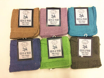 """All For You Kitchen Towel Set (Pack of 12, 6 Colors) 11""""x11"""" 100% Cotton Bar Rag"""