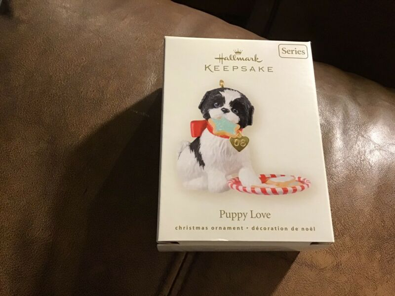 Hallmark 2008 PUPPY LOVE 18th in Series Mint in Mint Box Keepsake Ornament