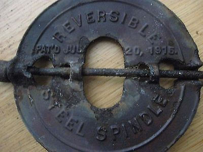"Antique GRISWOLD steel spindle 6"" Reversible Pat'd  July 20, 1915 Stove Vent"