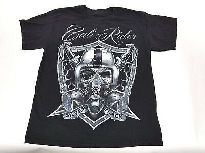 - Black Nation T-shirt Skull Dagger Cali Rider Adult LARGE Black Previously owned