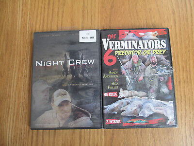 NIGHT CREW PREDATOR HUNTERS + VERMINATORS 6 PRED OR PREY - HUNTING - DVD 2 PACK