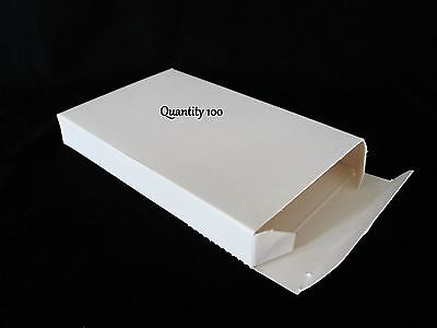 100 Lot Small White Boxes Gift Box 5.63 X 3.5 X .75 5 58 X 3 12 X 34