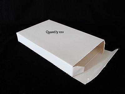 100 Lot Small White Boxes Gift Box 5.63 X 3.5 X .75 5 58 X 3 12 X 34