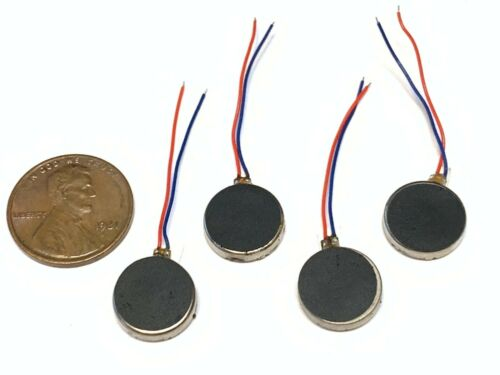 4 Pieces Vibration coin motor 1230 12mm 12mm x 3mm brushless small dc phone B14