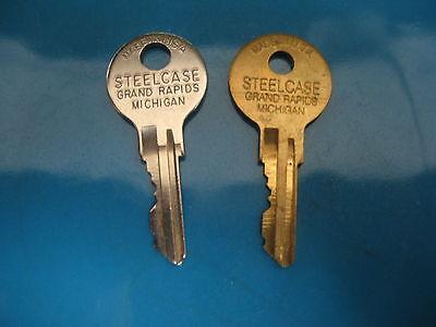 Steelcase File Cabinet Desk Fr Keys . Factory Oem Cut Keys - See Description