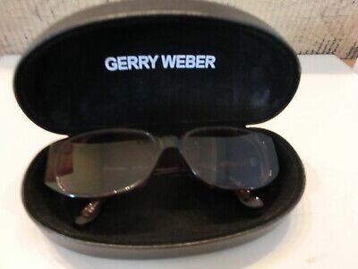 GERRY WEBER Sonnenbrille Brille Damenbrille braun horn + Etui Box schwarz