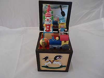(Wooden Toy Chest Music Box by Concepts International Chicago Item # T406B)