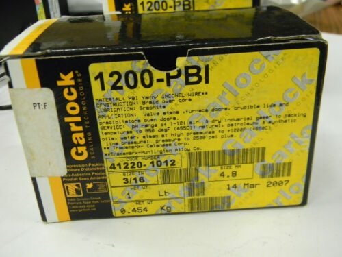 "New Garlock 1200-PBI Packing 3/16"" 1 LB Roll     L5"