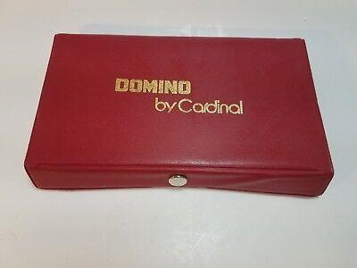 Domino Set by Cardinal Black Dot Domino Red Vinyl Case 28 Nice (Black Dot Domino Set)