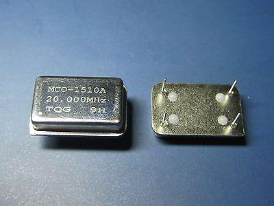 New 20.000mhz 20.000m 20mhz 20m Crystal Oscillators Dip4 Dip-4 5pcs