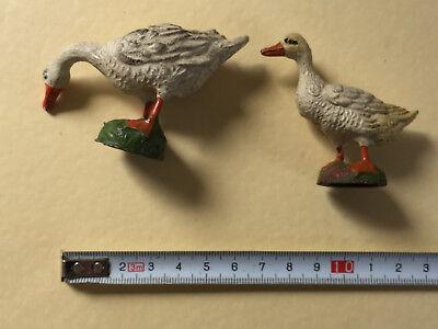 zwei alte Enten aus Masse oder Ähnlichem (G)10291