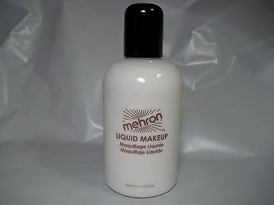 Mehron White  Liquid Hair Face and Body Makeup Water Washable  4.5 oz](Halloween Makeup White Hair)