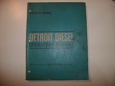 Detroit Diesel In-line 53 Engines Operators Manual 1970 General Motors Gm Gmc