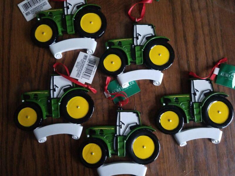 Kurt S Adler John Deere Tractor Christmas Ornament