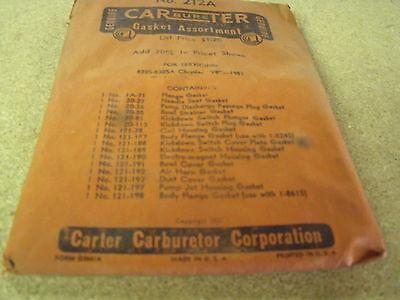 51 Chrysler V8 Carter Carburetor Gasket Kit 830S, 830SA