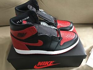 "2016 Air Jordan 1 Retro ""Banned"" size 11.5 DS"