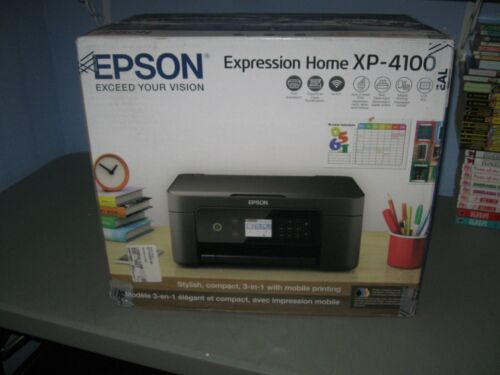 Epson Expression Home XP-4100 Inkjet Printer Wireless All-In-One