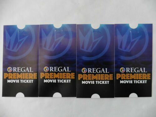 4  Regal Edwards United Artists Movie Tickets Never Expires No Restriction