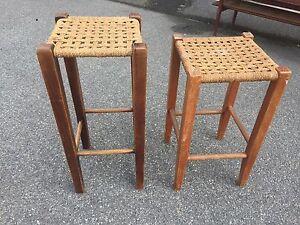Vintage rattan stools Belconnen Belconnen Area Preview