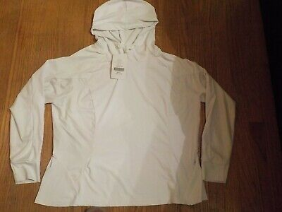 NWT Fabletics Alecia Pullover Hoodie Women's Hooded Shirt White Top 1XL