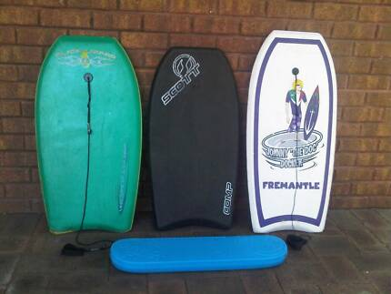 Surf Body Boards x4 for 7-12 yo.