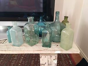 Sea glass blue and green bottles North Beach Stirling Area Preview